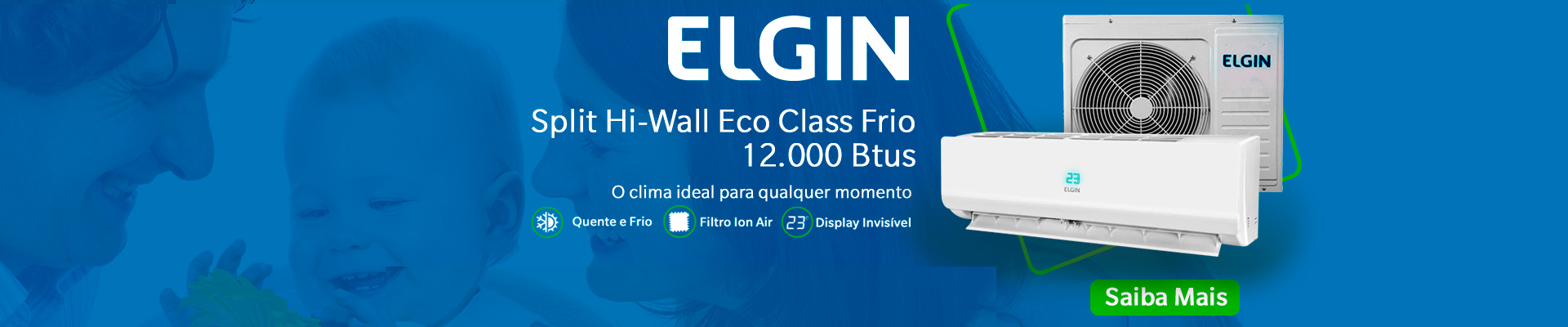Elgin Split Hi-Wall Eco Inverter 30.000